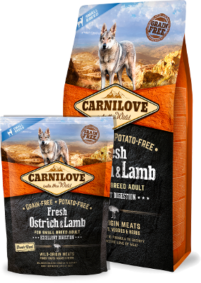 Fresh Ostrich & Lamb for Small-Breed Dogs